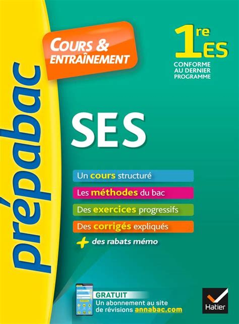 Ses 1re Es Prepabac Cours And Entrain