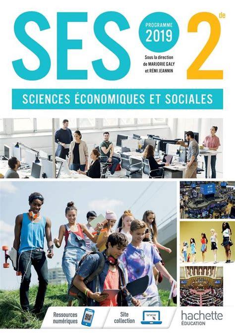 Ses 2nde Livre Eleve Ed 2019 Sciences Economiques Et Sociales