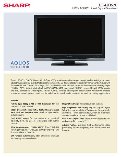 Sharp Aquos 42 Inch Manual