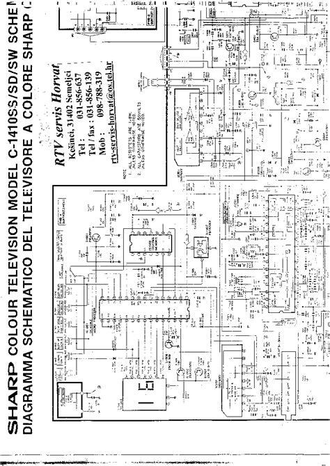 Sharp C 1410hw Hd Colour Television Repair Manual
