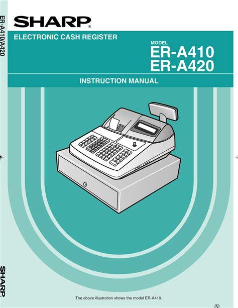 Sharp Er 1910 1920 Electronic Cash Register Repair Manual