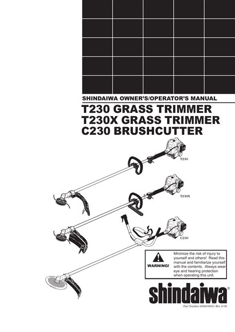 Shindaiwa T230x Owner Manual
