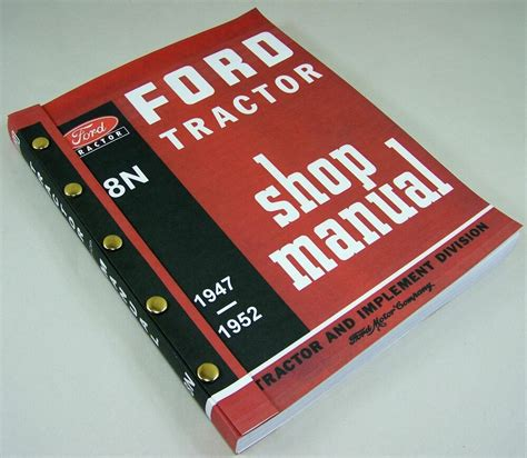 Shop Manual For Ford 8n