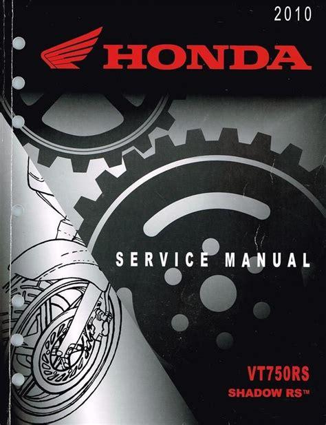 Shop Manual For Honda Shadow Rs