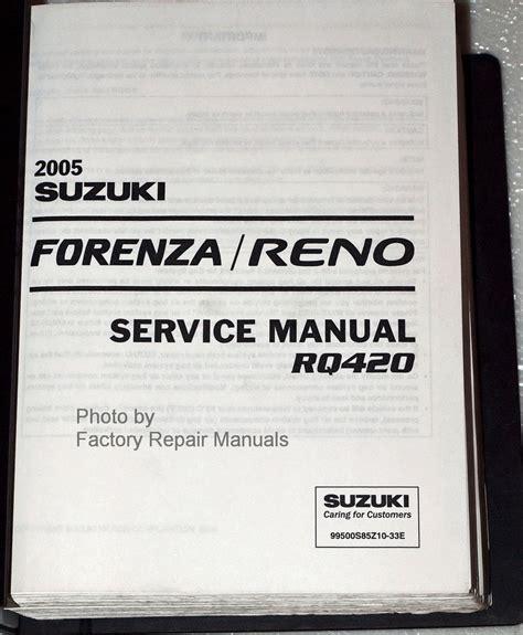 Shop Manual For Suzuki Forenza