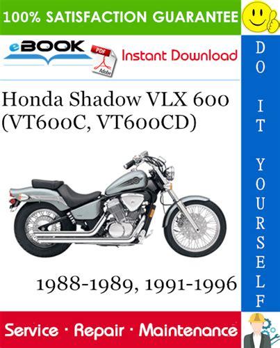 Shop Manual Honda Shadow Vlx