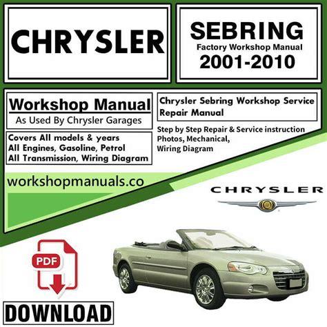 Shop Repair Manual 2016 Chrysler Sebring