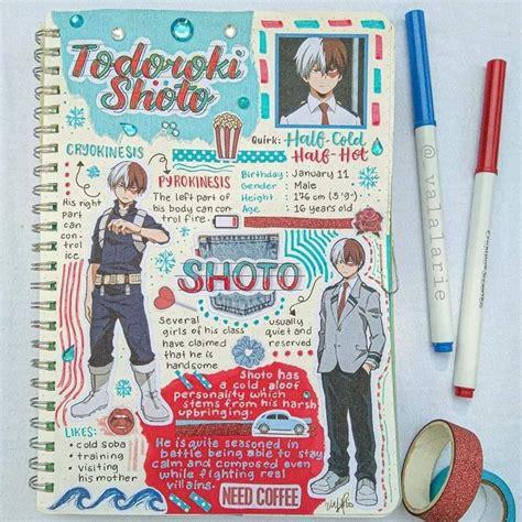 Shoto Todoroki Notebook Anime Notebooks Motivation Inspiring Journal Boku No Hero Academia