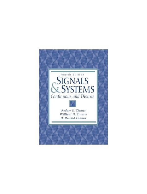 Signals And Systems Ziemer Solution Manual
