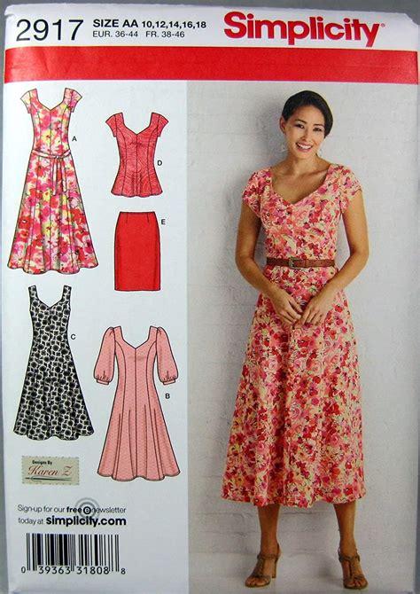 Simplicity 2917 Aa Patrones De Costura Para Vestidos De Mujer Tallas Grandes