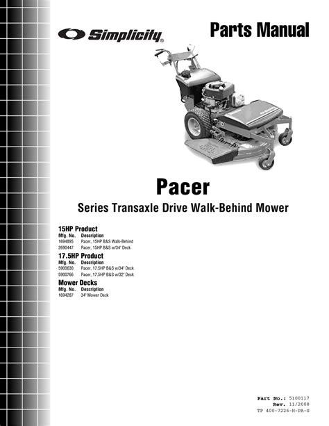 Simplicity Pacer Manual