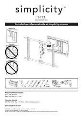 Simplicity Slf3 B1 Manual