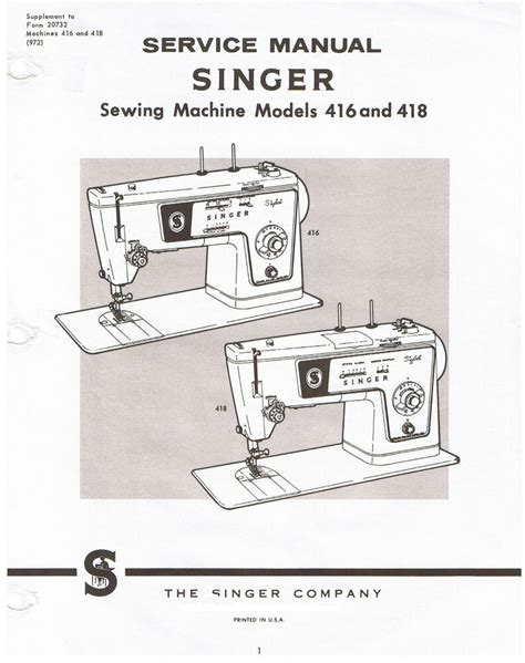 Singer 418 Repair Manual