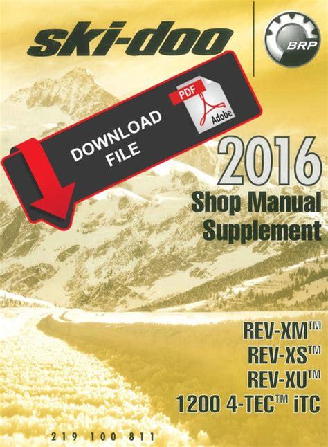Ski Doo Manual 2016