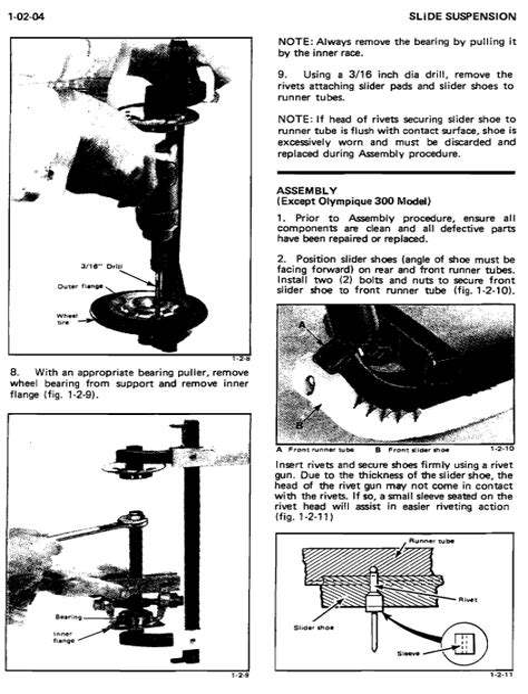 Ski Doo Snowmobile Shop Manual