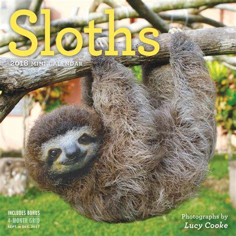 Sloths Mini Calendar 2018