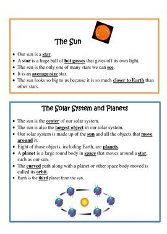 Solar System Study Guide 5th Grade