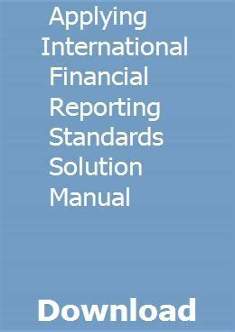 Solution Manual Applying International Financial