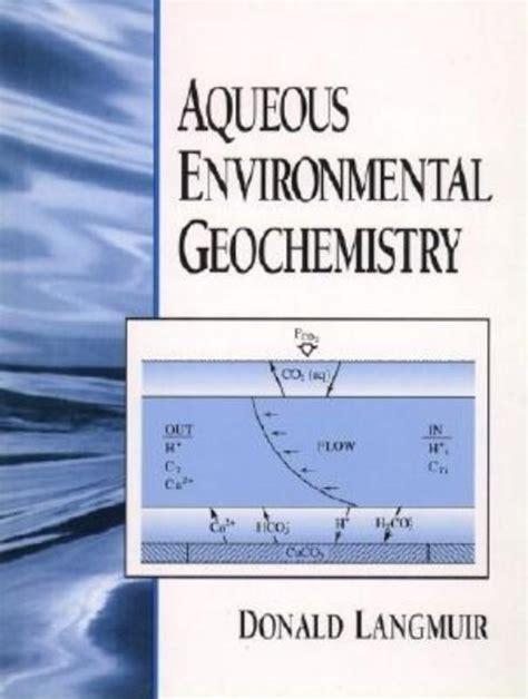 Solution Manual Aqueous Environmental Geochemistry