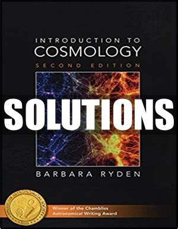 Solution Manual Cosmology Ryden
