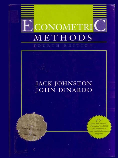 Solution Manual Econometrics Methods Johnston Dinardo