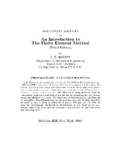 Solution Manual Fem Of Reddy