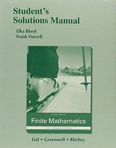 Solution Manual Finite Mathematics Lial