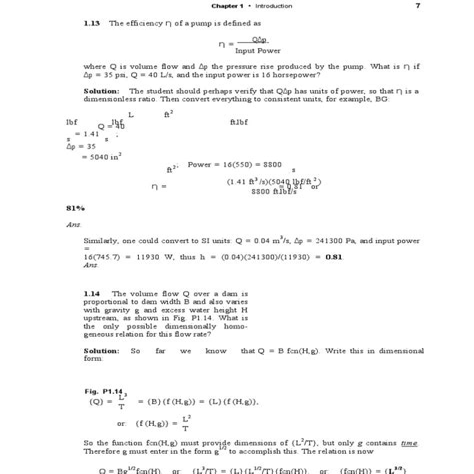 Solution Manual Fluid Mechanics White