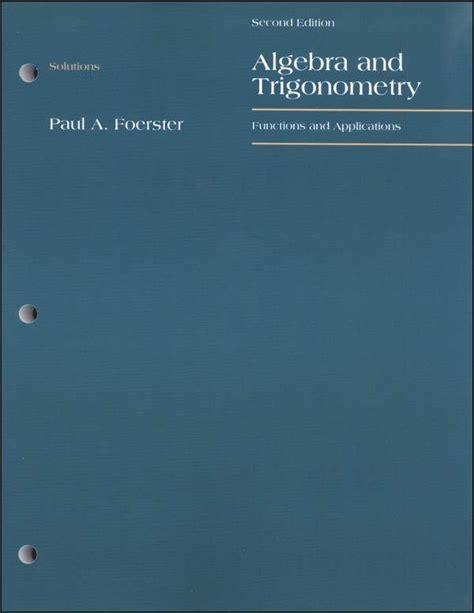 Solution Manual For Foerster Algebra