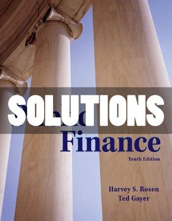 Solution Manual For Public Finance Rosen