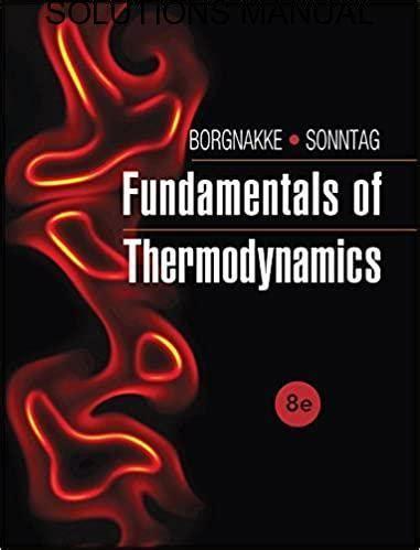 Solution Manual Fundamentals Of Thermodynamics Sonntag