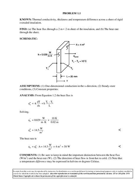 Solution Manual Incropera 6th Edition