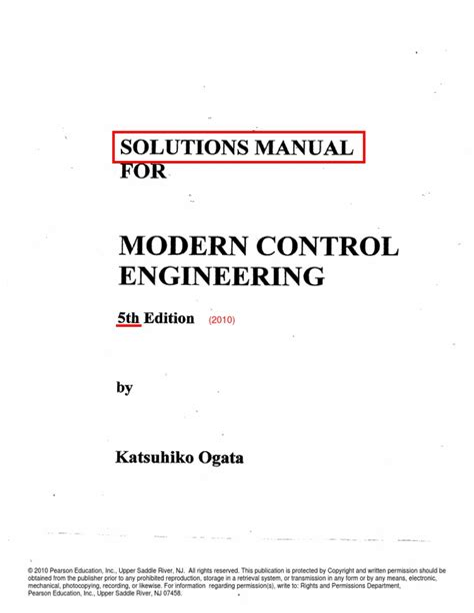 Solution Manual Ogata Modern Control 4th Edition