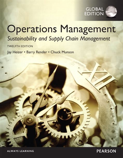 Solution Manual Operation Management Jay Heizer 10e