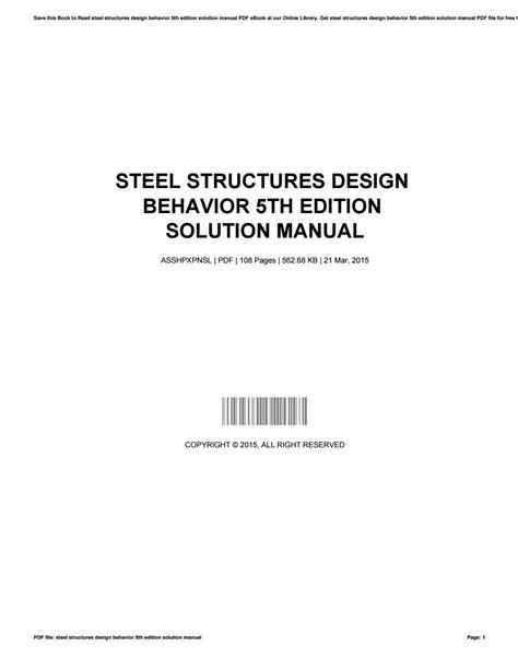 Solution Manual Steel Structures Design