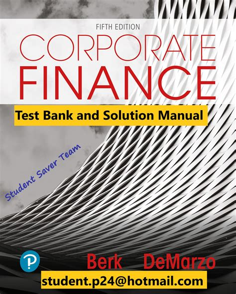 Solution Manual To Corporate Finance 5th Edition