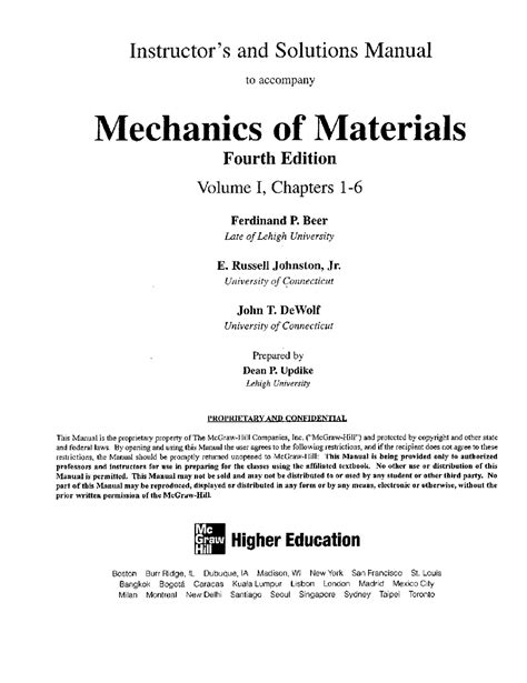 Solution Manual To Mechanics Of Materials By Beer