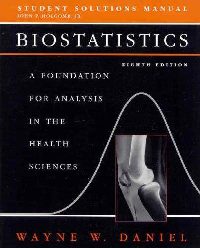 Solutions Manual Daniel Biostatistics