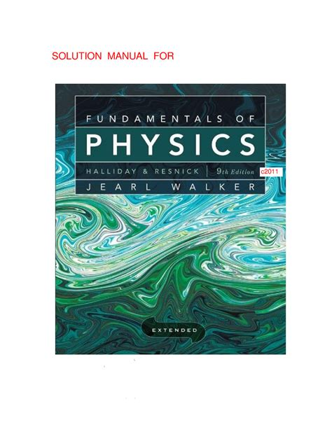 Solutions Manual Halliday And Resnick 9
