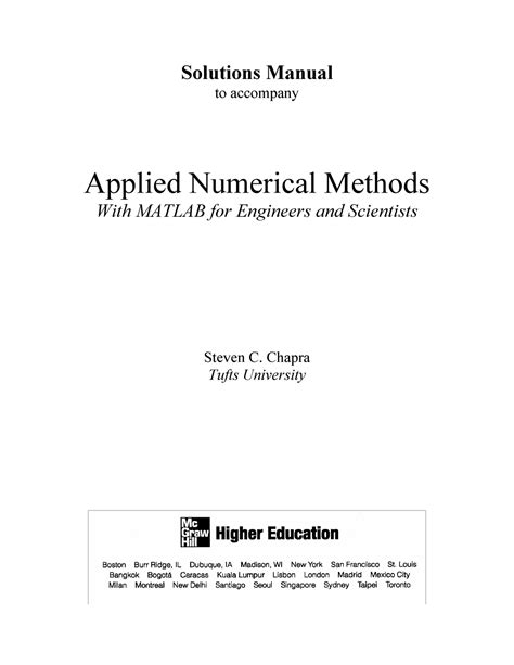 Solutions Manual Numerical Analysis