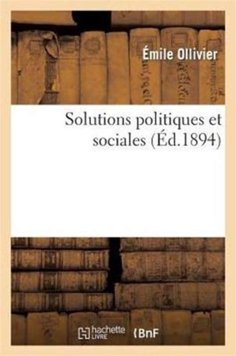 Solutions politiques et sociales