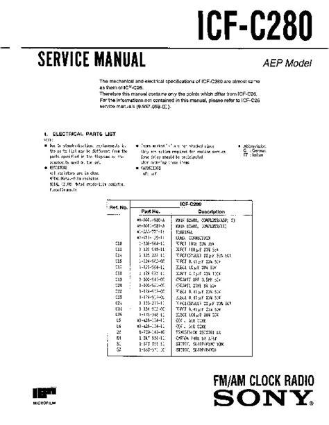 Sony C280 User Manual