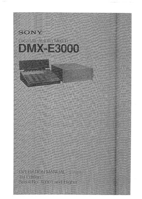 Sony Dmx E3000 Manual