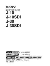 Sony J30sdi Manual