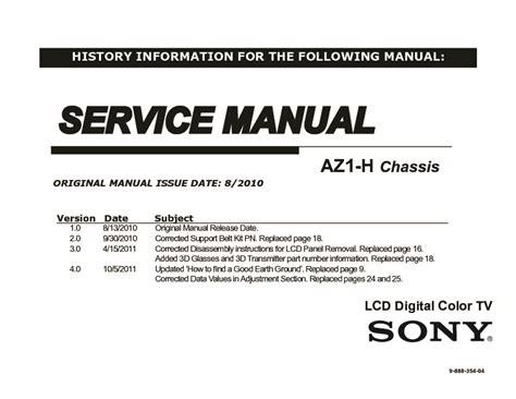 Sony Kdl 40nx710 Kdl 40nx711 Tv Service Manual