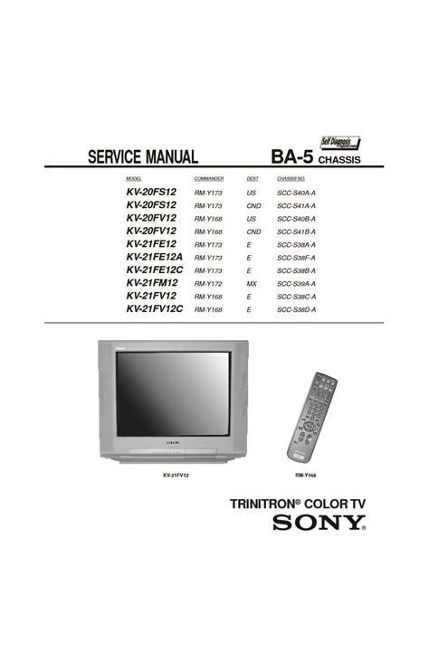 Sony Kv Sw34m61 Tv Service Manual