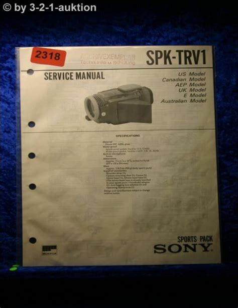 Sony Spk Trv1 Service Manual