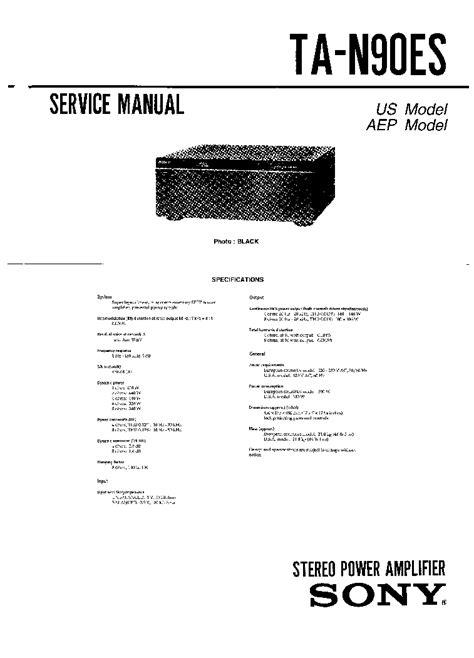 Sony Ta N 90 Es Original Service Manual