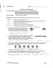Sound And Music Answer Key Physics Classroom