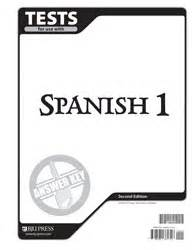 Spanish 1 Tests Answer Key 2nd Edition